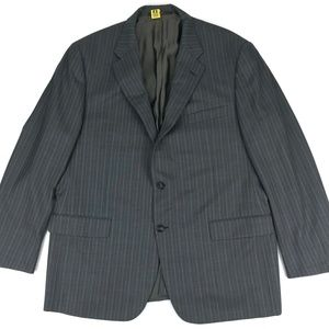 Hickey Freeman Gray Pinstriped Suit Jacket Sz 46R
